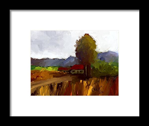 Farm House Framed Print featuring the painting Farm House by Bruce Young