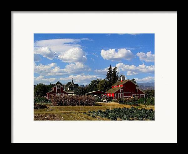 Farm Framed Print featuring the photograph Farm House by Scott Brown