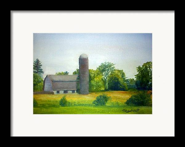 Farm Framed Print featuring the painting Farm In The Pine Barrens by Sheila Mashaw