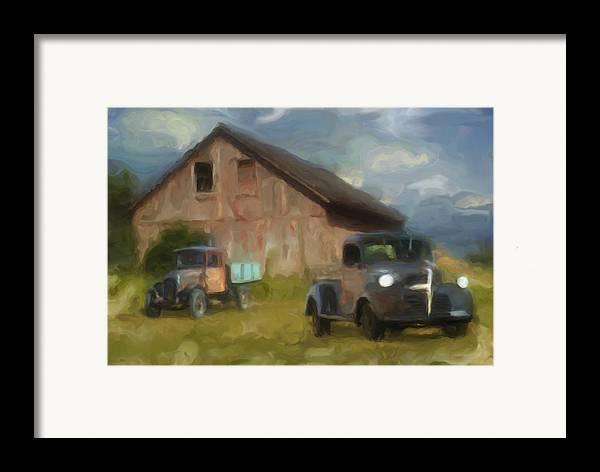 Barn Framed Print featuring the photograph Farm Scene by Jack Zulli