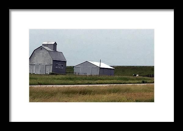 Farm Scene Framed Print featuring the photograph Farm Scene by James Pinkerton
