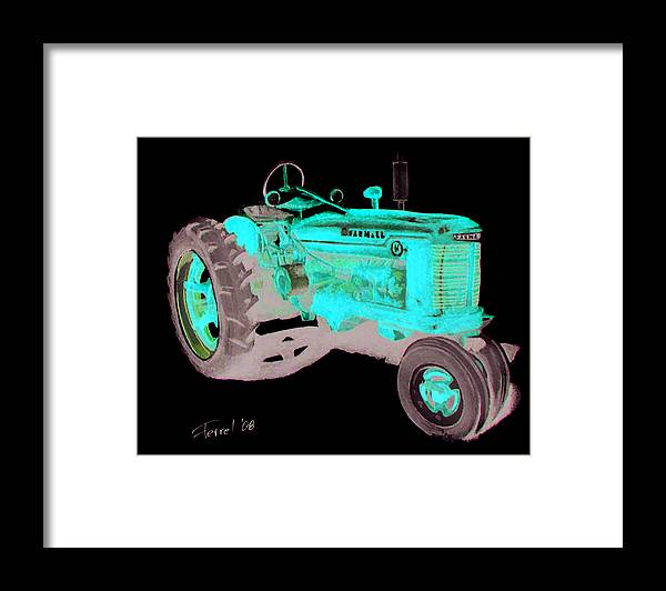 Farmall Framed Print featuring the painting Farmall Tractor by Ferrel Cordle
