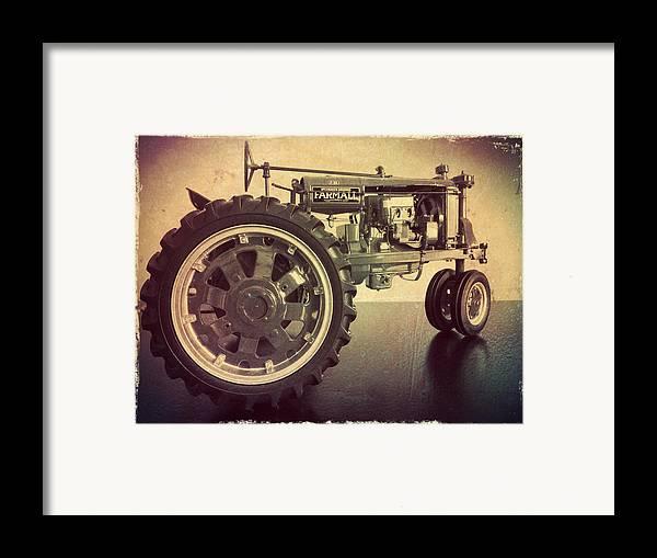 Farmall Door Mat : Farmall tractor framed print by scott kingery