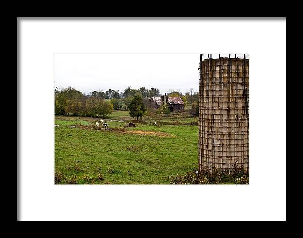 Farm Framed Print featuring the photograph Farmland by Douglas Barnett