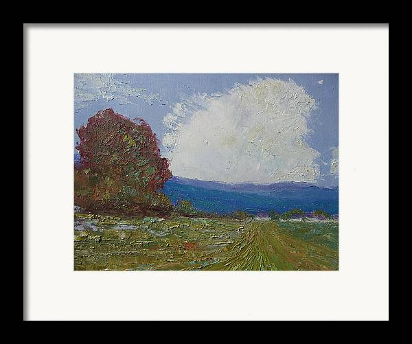 Landscape Framed Print featuring the painting Farmstead by Belinda Consten