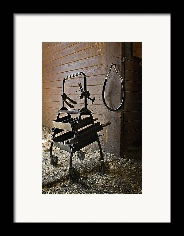 Horse Framed Print featuring the photograph Farriers Tools by Jack Goldberg