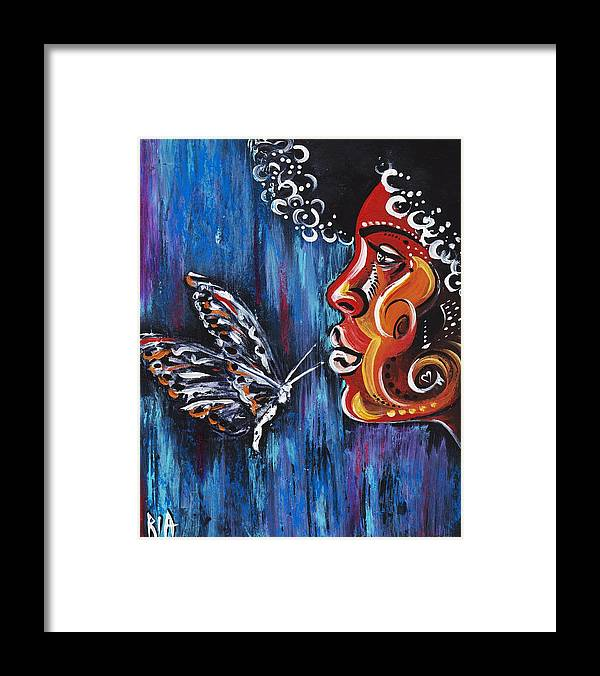Butterfly Framed Print featuring the photograph Fascination by Artist RiA