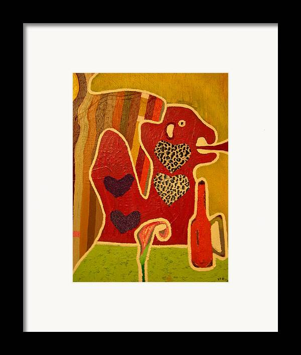 Abstract Framed Print featuring the painting Fashion Monster by Heinrich Haasbroek