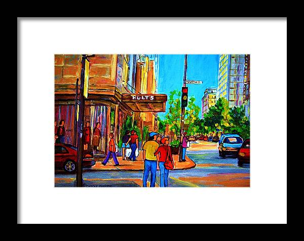 Holt Renfrew Framed Print featuring the painting Fashionable Holt Renfrew by Carole Spandau