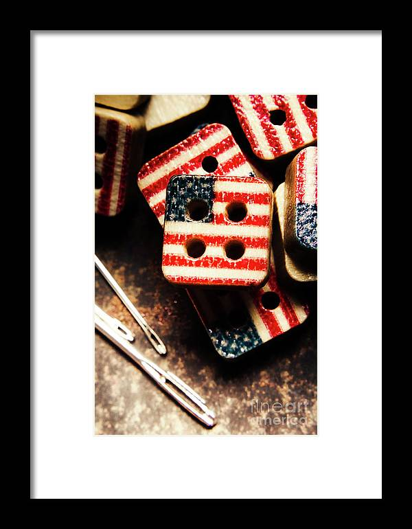 Tailoring Framed Print featuring the photograph Fashioning A Usa Design by Jorgo Photography - Wall Art Gallery