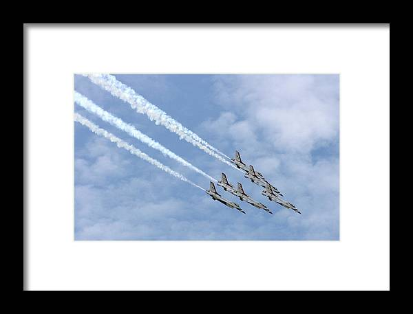 Airplane Framed Print featuring the photograph Faster Than A Speeding Bullet by David Dunham
