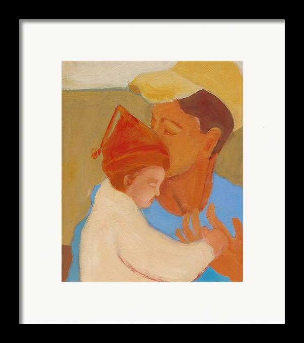 Daughter Framed Print featuring the painting Father And Daughter by Renee Kahn