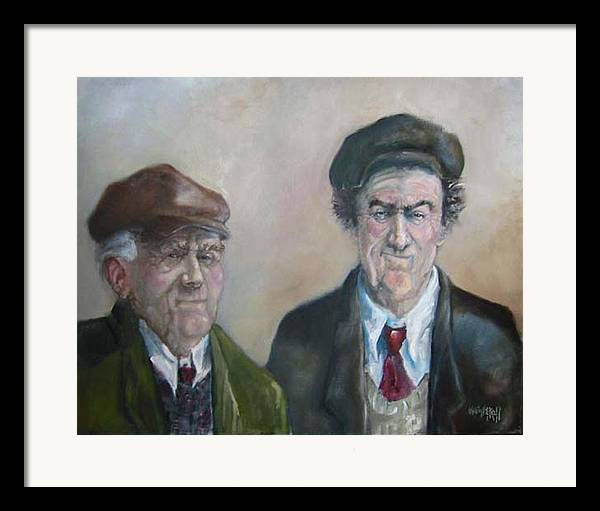 Portrait Figure Framed Print featuring the painting Father And Son by Kevin McKrell