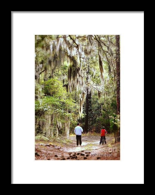 Father And Son Framed Print featuring the photograph Father And Son by Patricia L Davidson