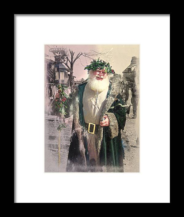 Father Christmas Framed Print featuring the photograph Father Christmas by Andrea Dale