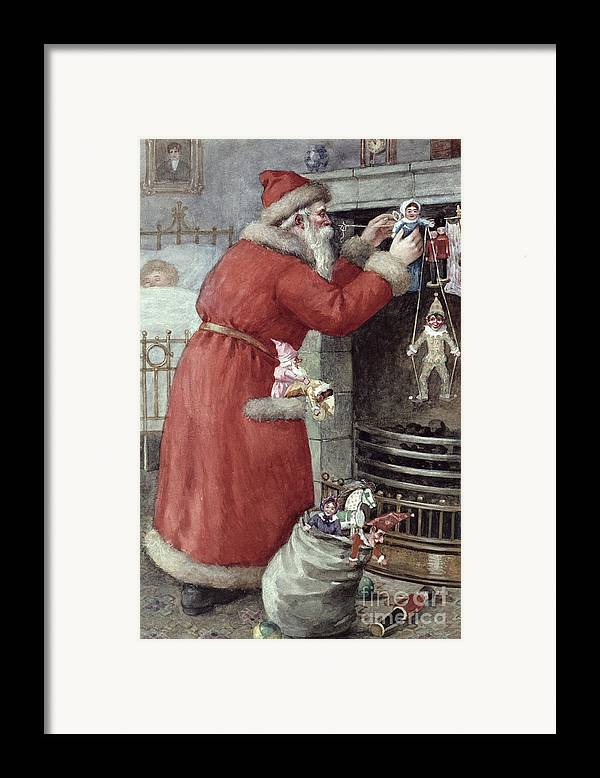 Father Framed Print featuring the painting Father Christmas by Karl Roger