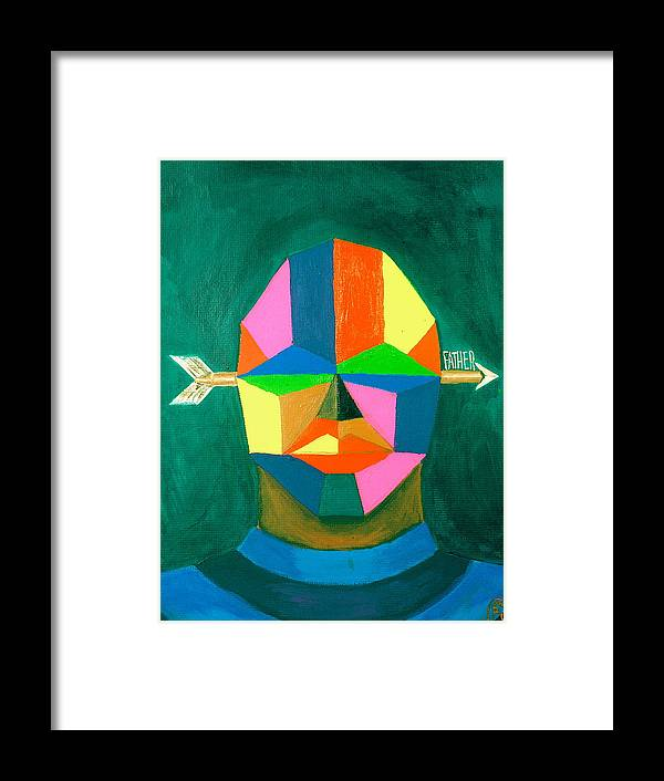 Maliksart Framed Print featuring the painting Father by Malik Seneferu