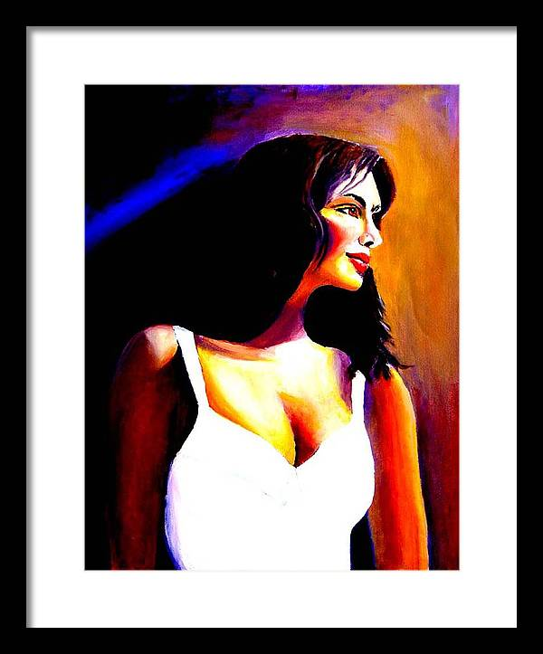 Portrait Of A Beautiful Woman Framed Print featuring the print Fatima by George Markiewicz