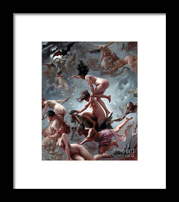 Naked Framed Print featuring the painting Faust's Vision by Luis Riccardo Falero