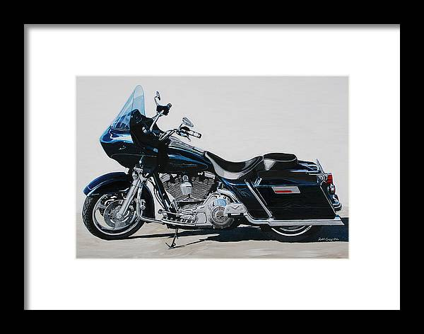Harley Davidson Road Glide Framed Print featuring the painting Favorite Toy by Robert Gray
