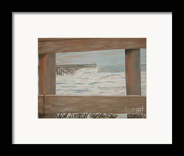 Landscape Framed Print featuring the painting Fay Blew by Sodi Griffin