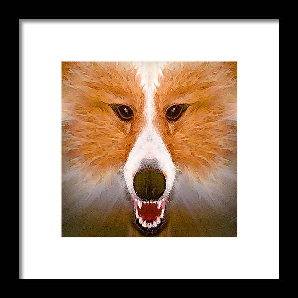 Dog Framed Print featuring the painting Faye Sprayed by Peter J Sucy