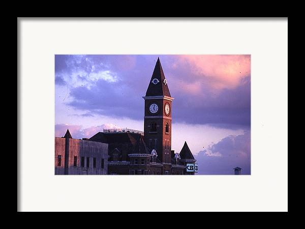 Framed Print featuring the photograph Fayetteville Courthouse by Curtis J Neeley Jr