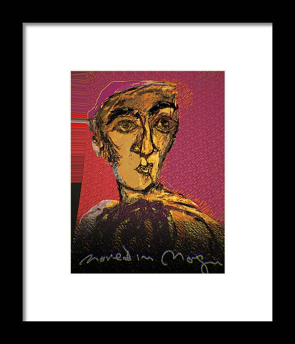 Portrait Framed Print featuring the painting Fayoum Portrait II by Noredin Morgan
