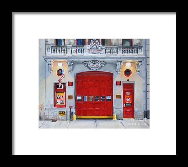 Fdny Framed Print featuring the painting FDNY Engine Company 65 by Paul Walsh