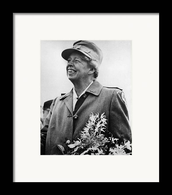 1940s Framed Print featuring the photograph Fdr Presidency. Eleanor Roosevelt by Everett