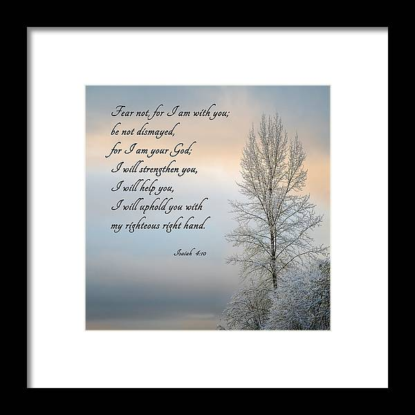 Inspiration Framed Print featuring the photograph Fear Not by Mary Jo Allen