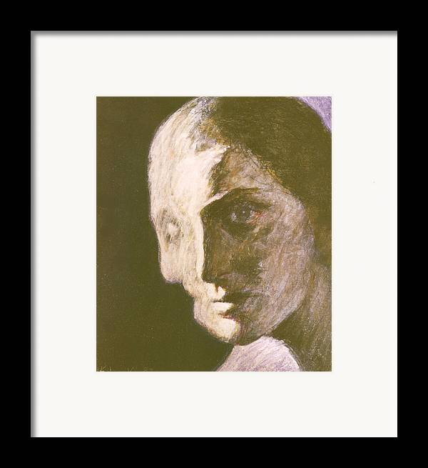Head-study Framed Print featuring the painting Fear Of Growing Old by James LeGros