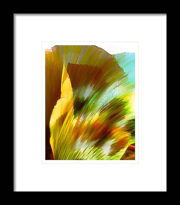 Landscape Digital Art Watercolor Water Color Mixed Media Framed Print featuring the digital art Feather by Anil Nene