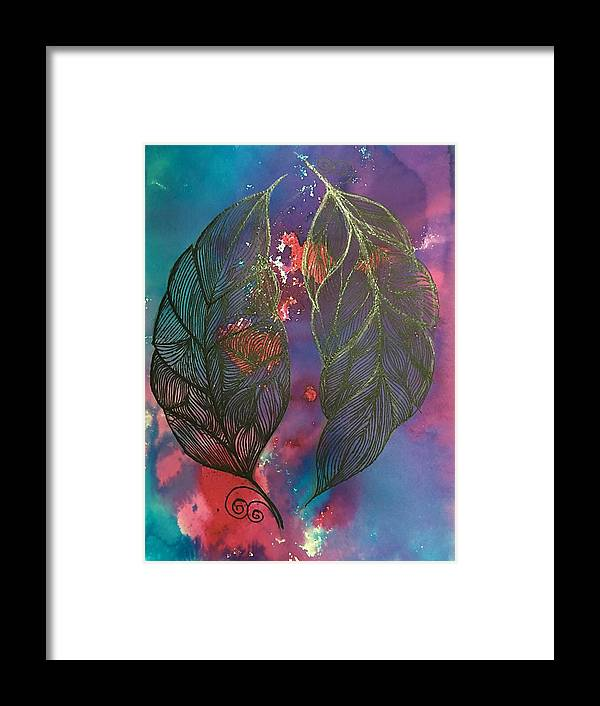 Lotus Framed Print featuring the painting Feathers by Sonal Kanakdande