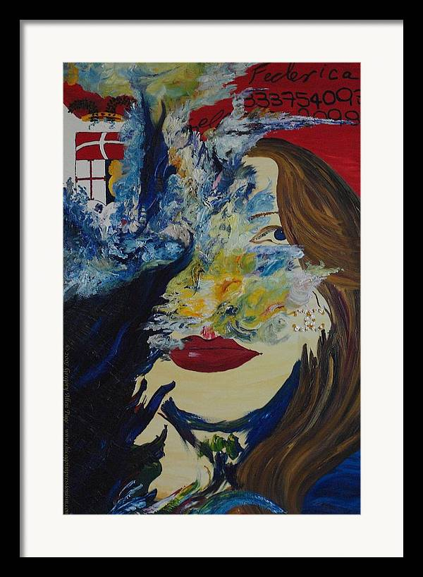 Como Framed Print featuring the painting Fede The Como Girl by Gregory Allen Page