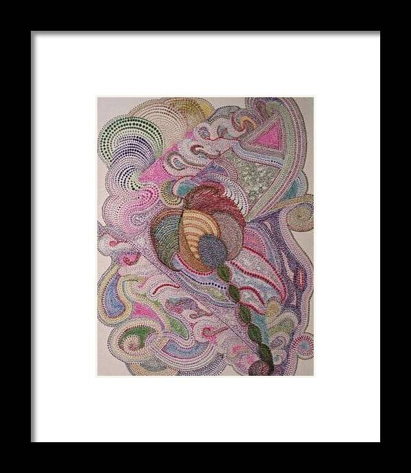 Pointillism Framed Print featuring the painting Feed Your Head by Gloria Houlne