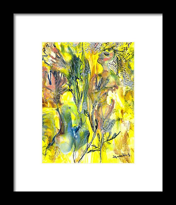 Healing Framed Print featuring the painting Feeling Of The Heart by Heather Hennick