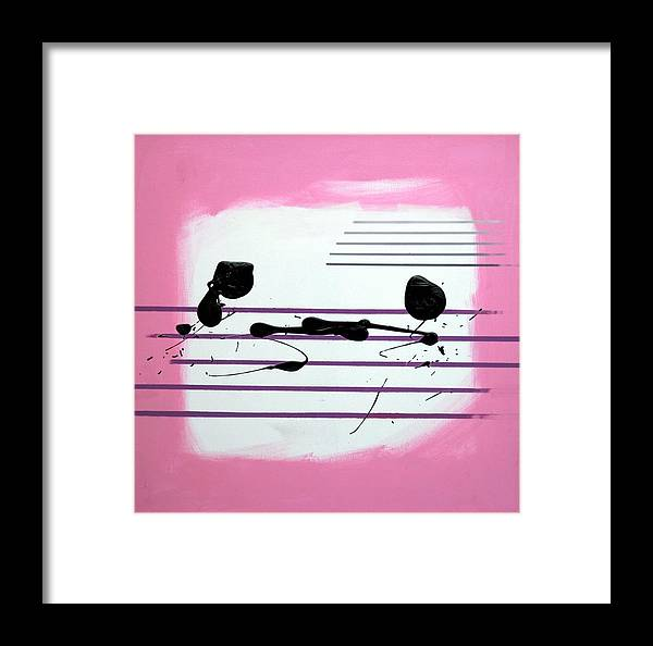 Abstract Framed Print featuring the painting Feelings by Mario Zampedroni