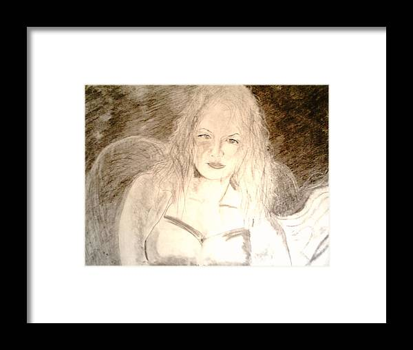 Cantina Framed Print featuring the drawing Felina by J Bauer