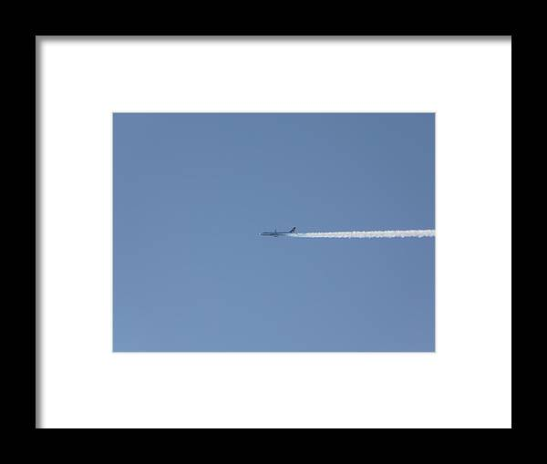Plane Framed Print featuring the photograph Fellow Plane by Valerie Ornstein