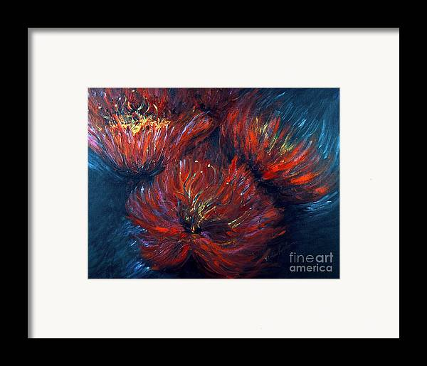 Abstract Framed Print featuring the painting Fellowship by Nadine Rippelmeyer