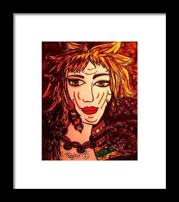 Woman Framed Print featuring the painting Female Animal by Natalie Holland