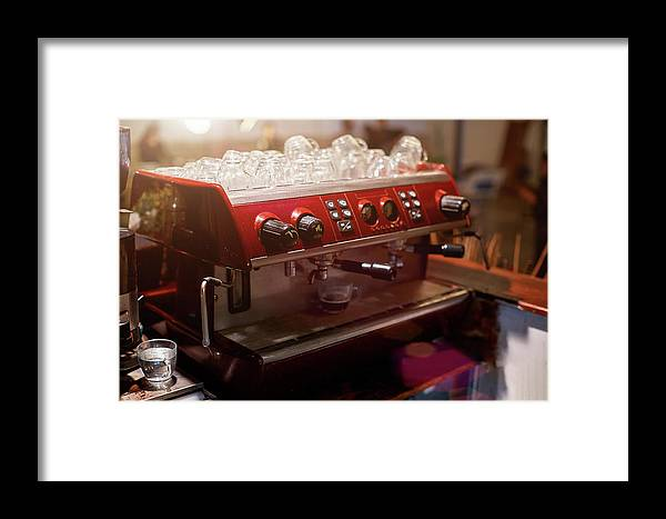 Coffee Framed Print featuring the photograph Female Bartender In The Workplace by Jan Pavlovski