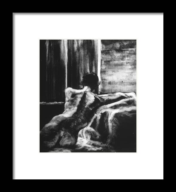 Female Framed Print featuring the painting Female II by John Clum