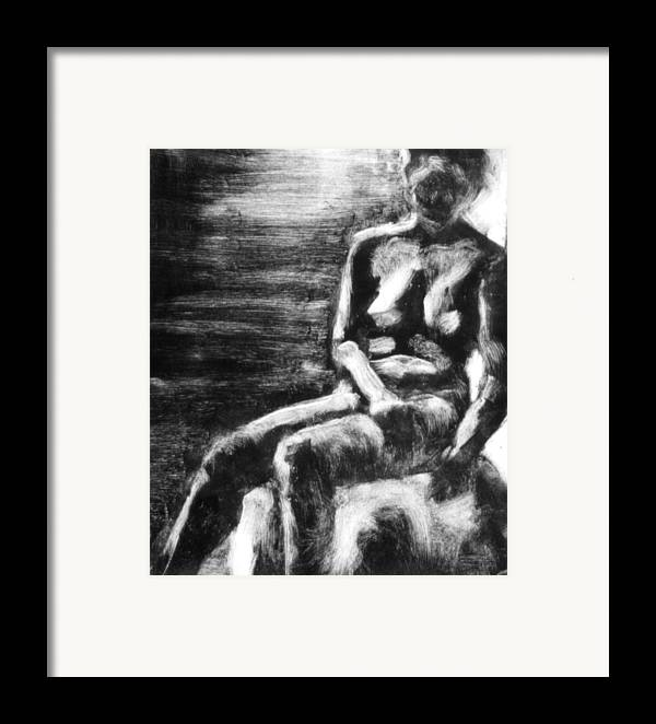 Female Framed Print featuring the painting Female Iv by John Clum