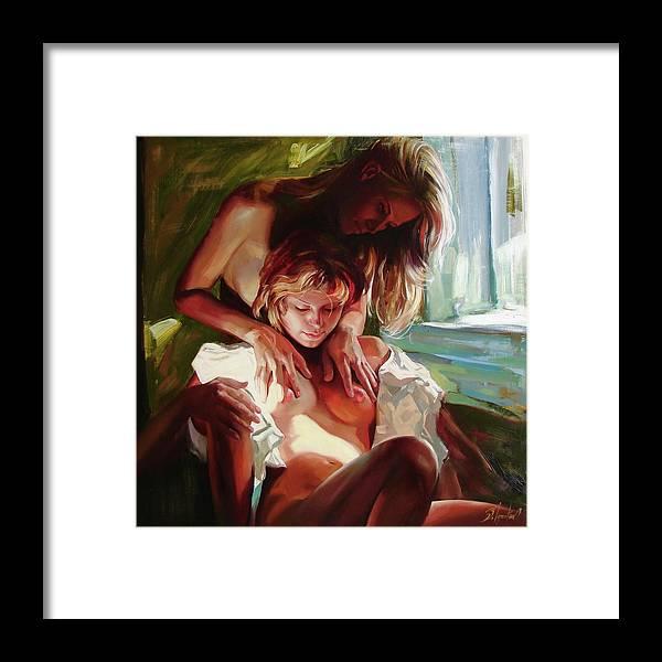 Ignatenko Framed Print featuring the painting Female secrets by Sergey Ignatenko