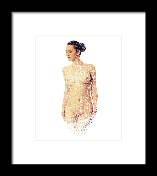 Nude Framed Print featuring the photograph Female Torso #15 by Karl Knox Images