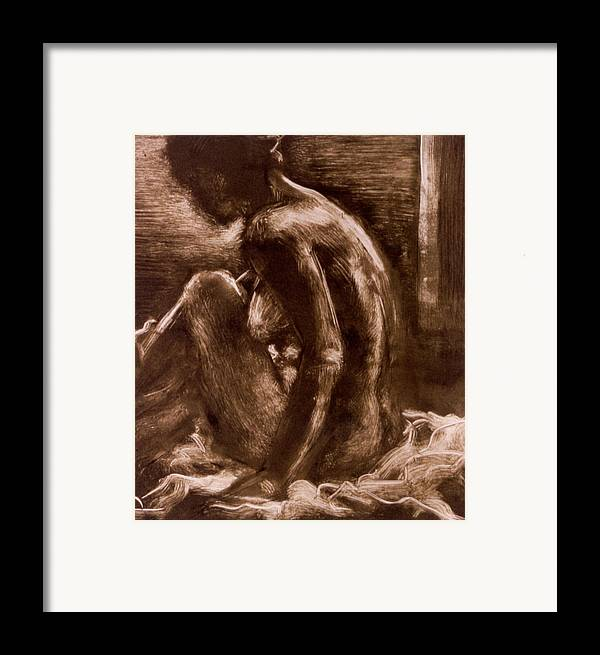 Female Framed Print featuring the painting Female Vi by John Clum