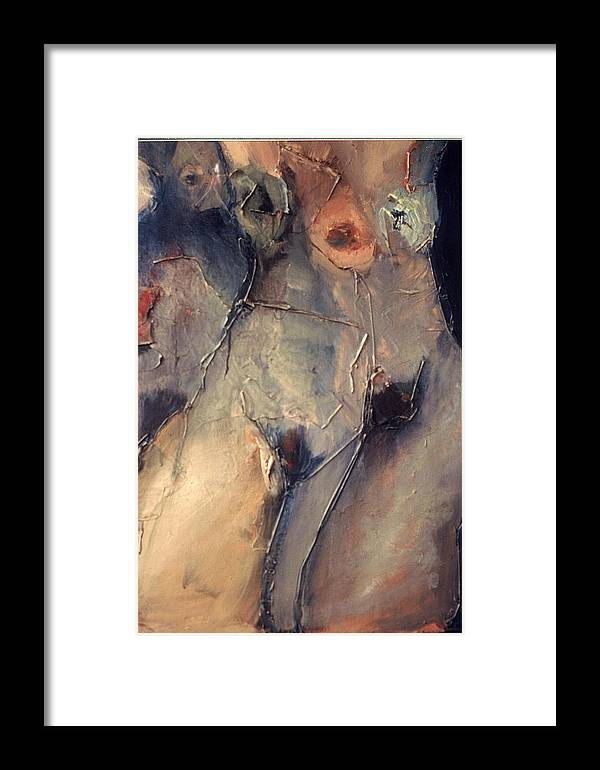 Nudes Framed Print featuring the painting Femme 3 by Angela Dickerson