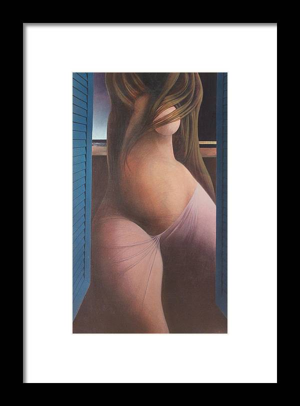 Figure Framed Print featuring the painting Femme Aux Volets by James LeGros